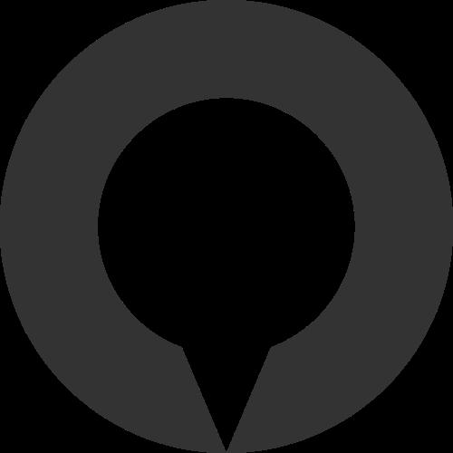 黑色圆形水滴矢量logo