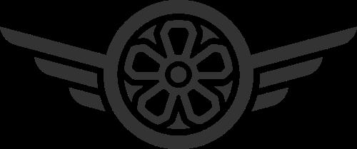 黑色轮子矢量logo