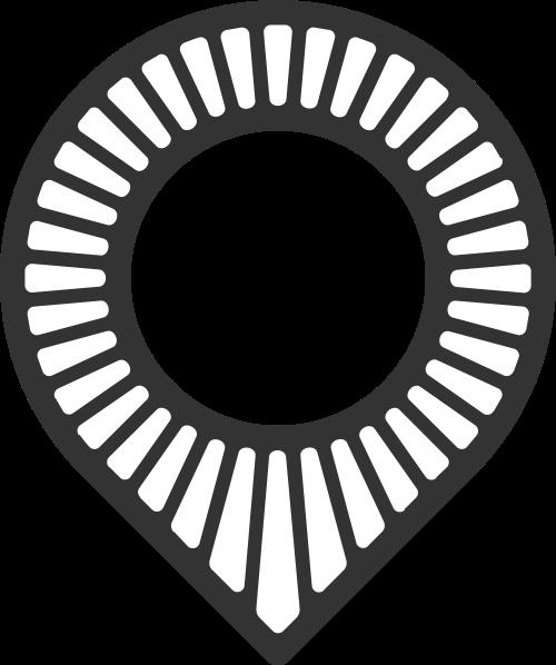 黑色水滴矢量logo元素