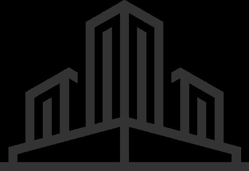 黑色建筑矢量logo