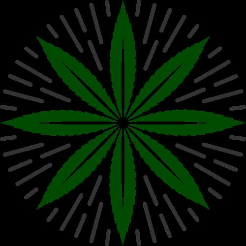 绿色叶子圆形矢量logo