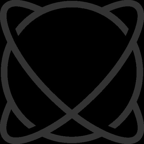 黑色星球环绕矢量logo元素