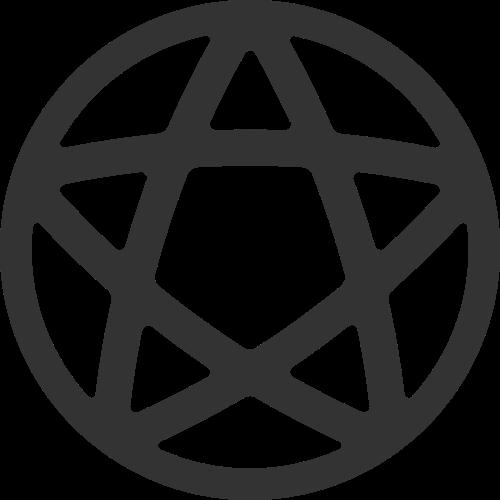 黑色星星矢量logo图标