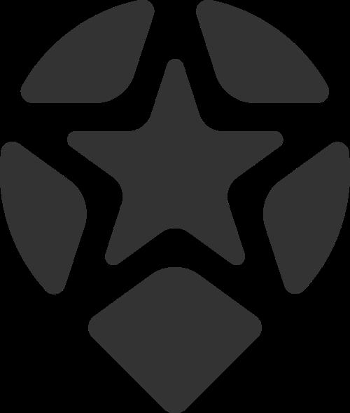 黑色星星矢量logo元素