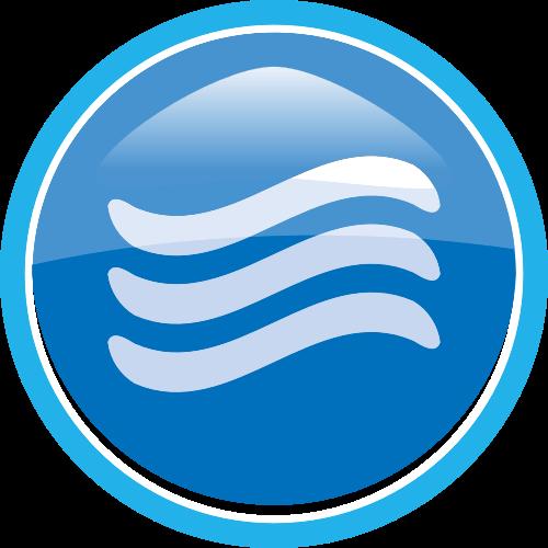 蓝色圆形矢量logo图标矢量logo