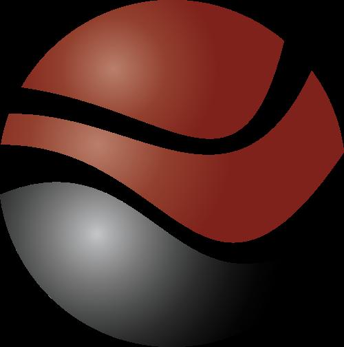 红色球体矢量logo
