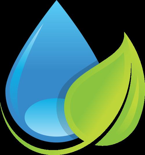 蓝绿色叶子矢量logo