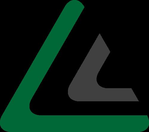 绿色角形矢量logo