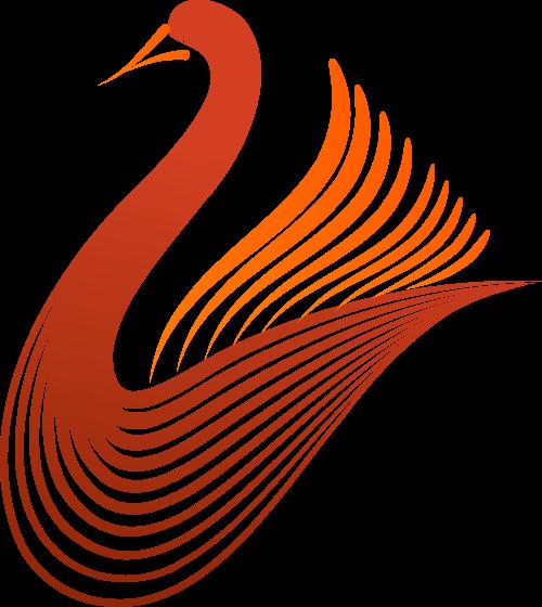 橙色天鹅矢量logo