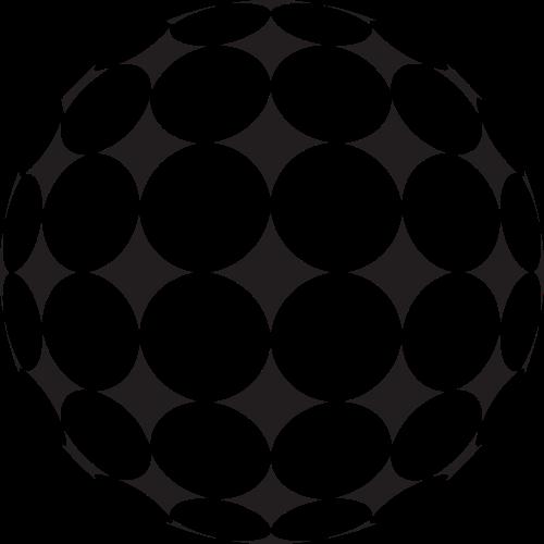 黑白球体矢量logo
