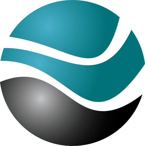 蓝色球体矢量logo