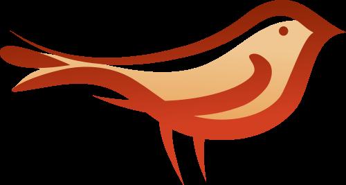 红色小鸟矢量logo