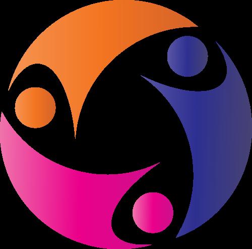 彩色人物矢量logo