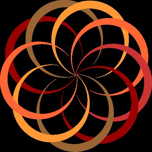 彩色花朵矢量logo图标