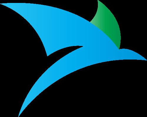 蓝色绿色科技矢量logo