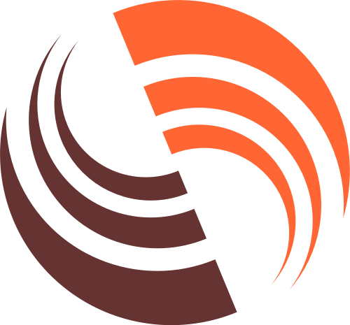 橙色科技矢量logo
