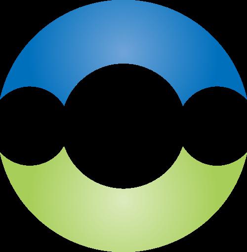 蓝色绿色半圆矢量logo