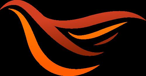橙色鸟矢量logo