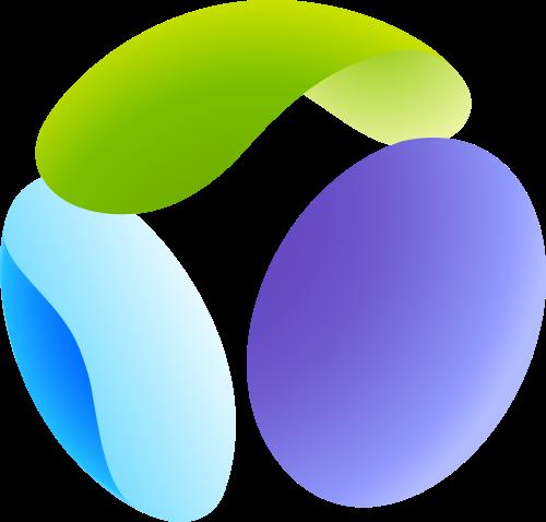 彩色球体矢量logo