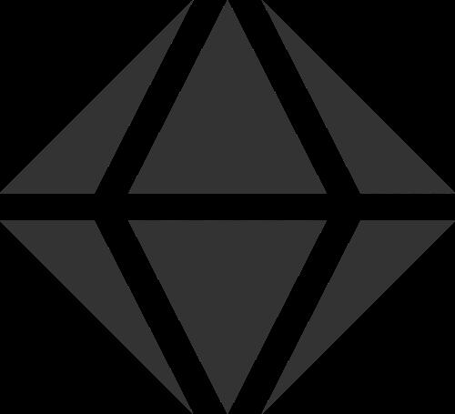 黑色钻石矢量logo图标