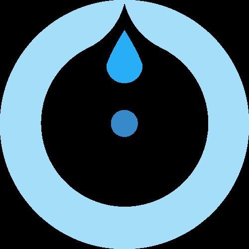 蓝色圆形水滴矢量logo