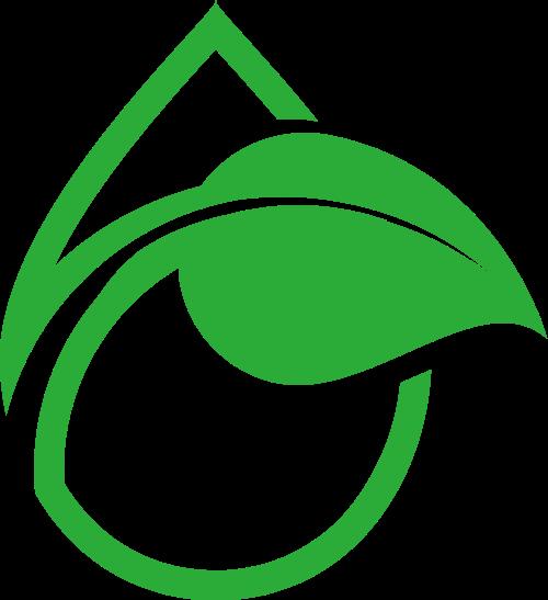 绿色叶子水滴矢量logo
