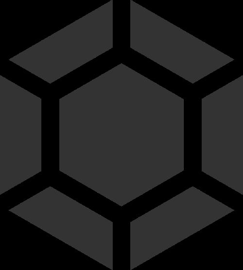 黑色六边形钻石矢量logo元素