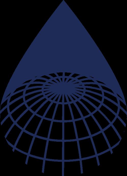 蓝色水滴形科技矢量logo