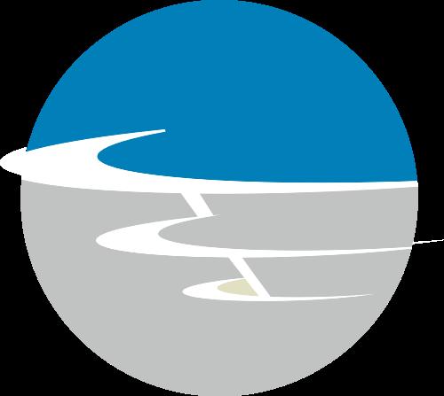 蓝色灰色科技矢量logo