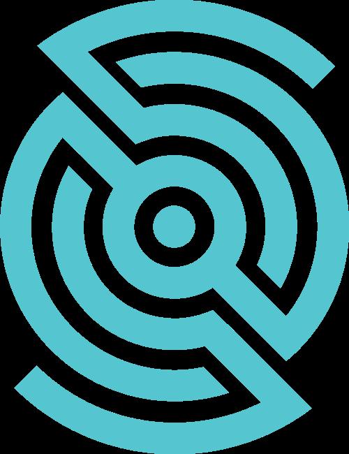 蓝色齿轮矢量logo