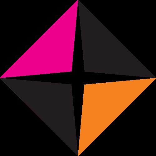 彩色正方形十字矢量logo