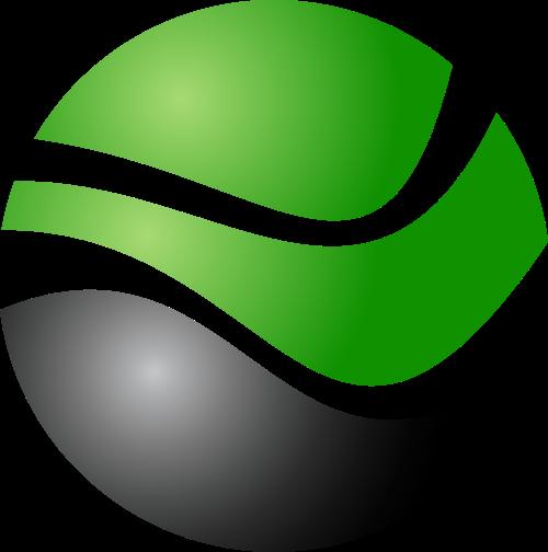 绿色黑色球体矢量logo