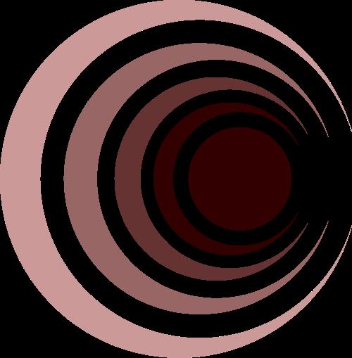 彩色圆形矢量logo元素