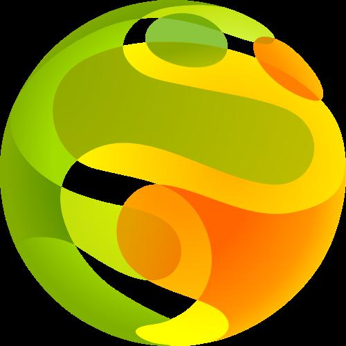 绿色橙色娱乐矢量logo元素