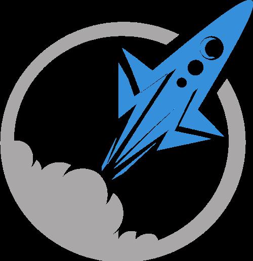 灰色火箭矢量logo