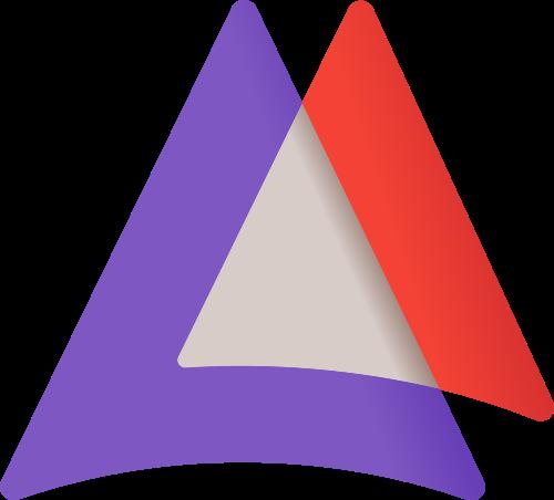 彩色三角形矢量logo