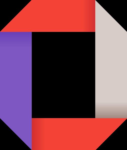 紫色红色方形矢量logo