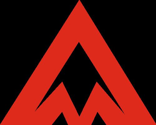 红色三角矢量logo