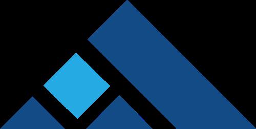 蓝色三角矢量logo