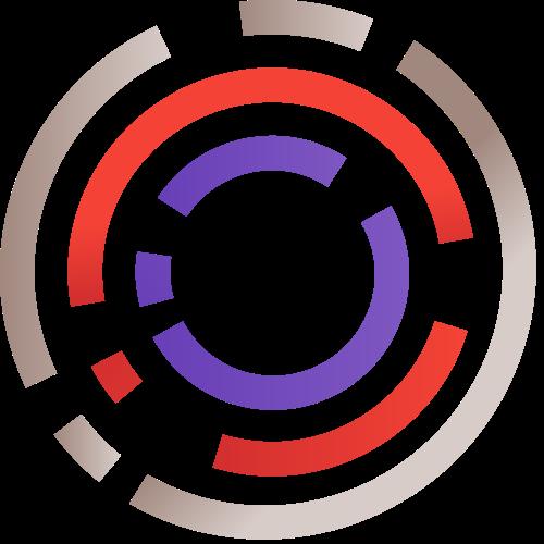 彩色圆形矢量logo