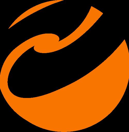 橙色圆形矢量logo