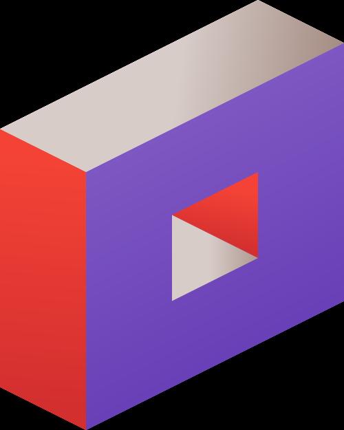 彩色方块矢量logo元素