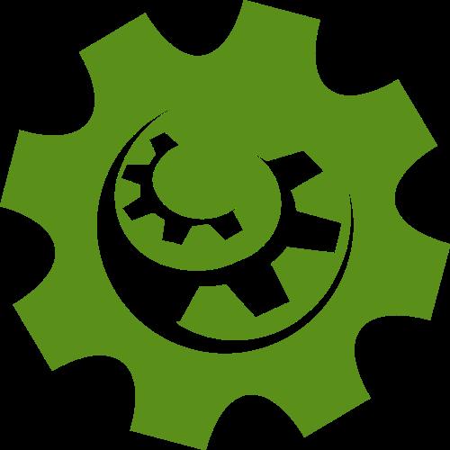 绿色齿轮矢量logo