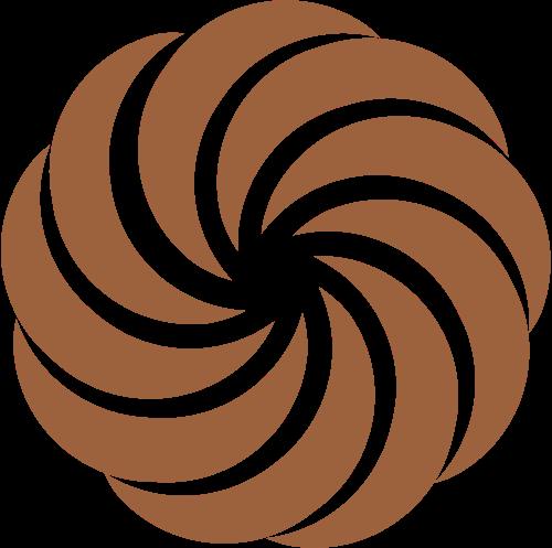 金色花朵矢量logo