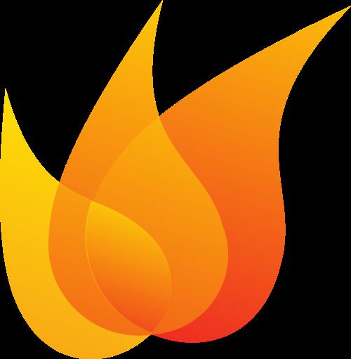 橙色水滴矢量logo