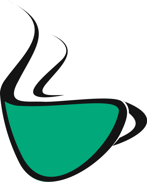 绿色咖啡杯矢量logo