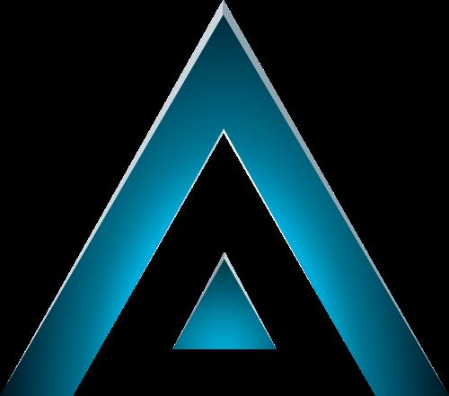 蓝色三角形矢量logo元素