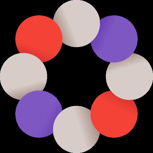 彩色圆形花朵矢量logo
