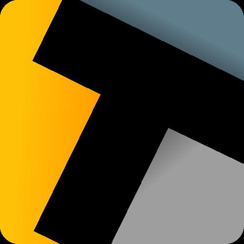 彩色字母T矢量logo