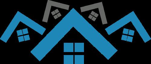 蓝色房子矢量logo